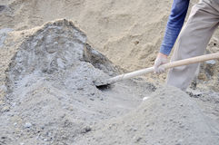 Mixing concrete Stock Images