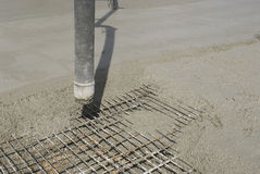 Mixing concrete Stock Image