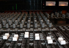 Mixing console. Photo of a recording studio mixing console stock photos