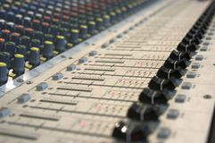 Mixing console. Buttons from music mixing console Royalty Free Stock Image