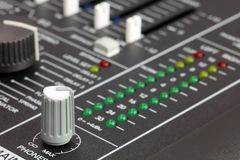 Mixing console Stock Photography
