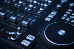 Mixing console. Close up of a mixing console Royalty Free Stock Images