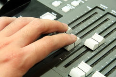 Mixing console Royalty Free Stock Photos