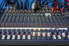 A mixing console Stock Photos