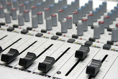 Mixing console. Radiostation's studio Royalty Free Stock Photo