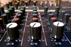 Mixing console. My home mixing console for recording sounds Stock Photography