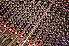 Mixing Console at Abbey Road Studios, London Stock Image