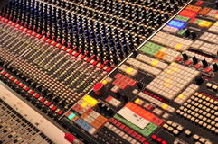Mixing Console at Abbey Road Studios, London Royalty Free Stock Images
