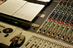Mixing Console at Abbey Road Studios, London. Mixing console in studio 2 control room of Abbey Road Studios Stock Photo