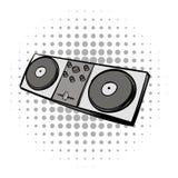 Mixing console black comics icon Stock Photo