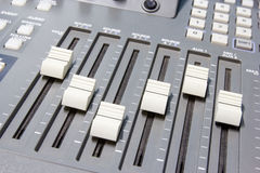Mixing console button Royalty Free Stock Photos
