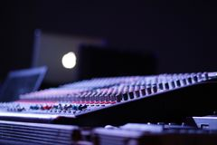 Mixing console close up Royalty Free Stock Image