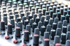 Mixing console Royalty Free Stock Photo