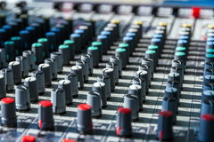Mixing console Stock Image