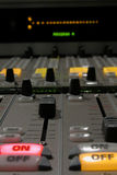 Mixing Console Detail II. Detail of a digital audio mixing console Royalty Free Stock Image