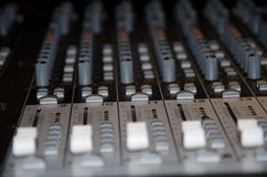 Mixing console detail Royalty Free Stock Photography