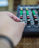 Mixing console DJ. Royalty Free Stock Photo