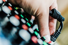 Mixing console DJ. Royalty Free Stock Photography