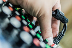 Mixing console DJ. Stock Photography