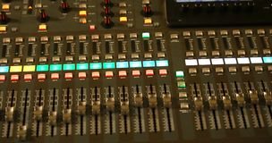 Mixing Console e of a big HiFi system Royalty Free Stock Photography