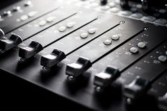Mixing Console - faders Royalty Free Stock Photography