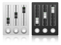 Mixing console icon Stock Images