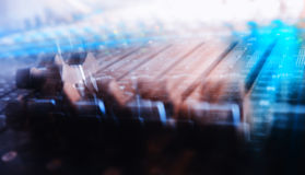 Mixing console motion abstraction Stock Photography