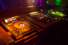 Mixing Console at the night club Royalty Free Stock Images
