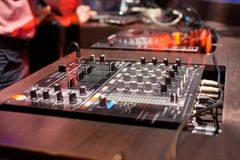 Mixing Console at the night club Stock Photography