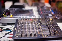 Mixing Console at the night club Stock Photos