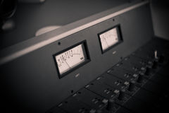 Mixing console at the radio station Stock Photo