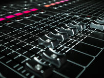 Mixing Console at a recording studio Stock Photos