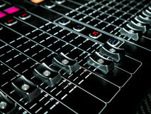 Mixing Console at a recording studio Stock Photo