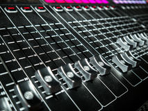 Mixing Console at a recording studio Royalty Free Stock Photos