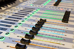 Mixing console. Sound mixer. Stock Photos