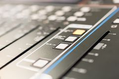 Mixing console. Sound mixer. Stock Images