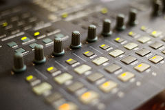 Mixing console. For sound production Stock Image