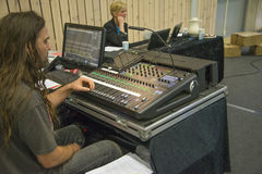 From mixing consoles. Day 1 Stock Photos