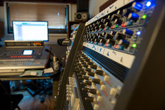 mixing consoles in a recording studio Royalty Free Stock Photos