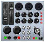 Mixing or control console. Vector illustration of a mixing console or sound board vector illustration