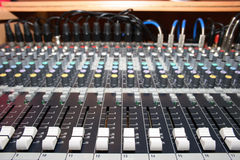 Mixing desk Stock Photo