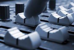 Mixing Desk. Studio mixing desk up-close Stock Photography