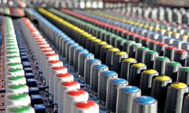 Mixing desk. Close -up of a digital mixing desk Royalty Free Stock Photo