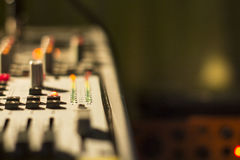 The mixing Desk at the concert Stock Image