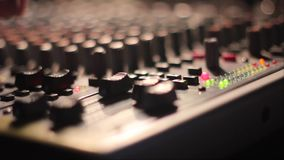 The mixing Desk at the concert stock footage