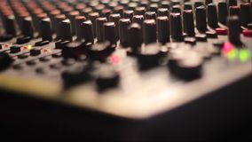 The mixing Desk at the concert stock video