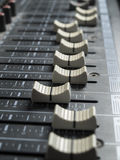 Mixing desk faders Stock Image
