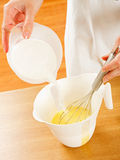 Mixing dough Royalty Free Stock Photo