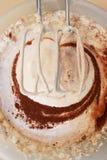 Mixing the dough. Dough for brownies royalty free stock photos