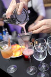 Mixing drinks Stock Photography